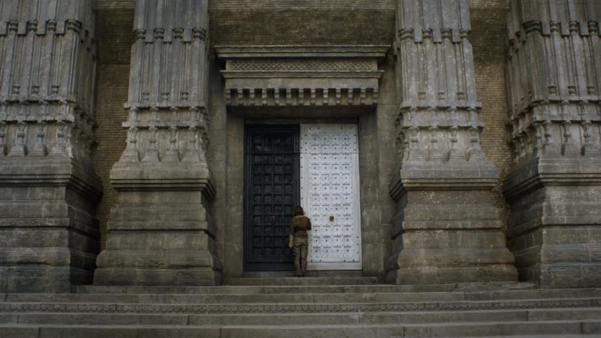 Arya at doors