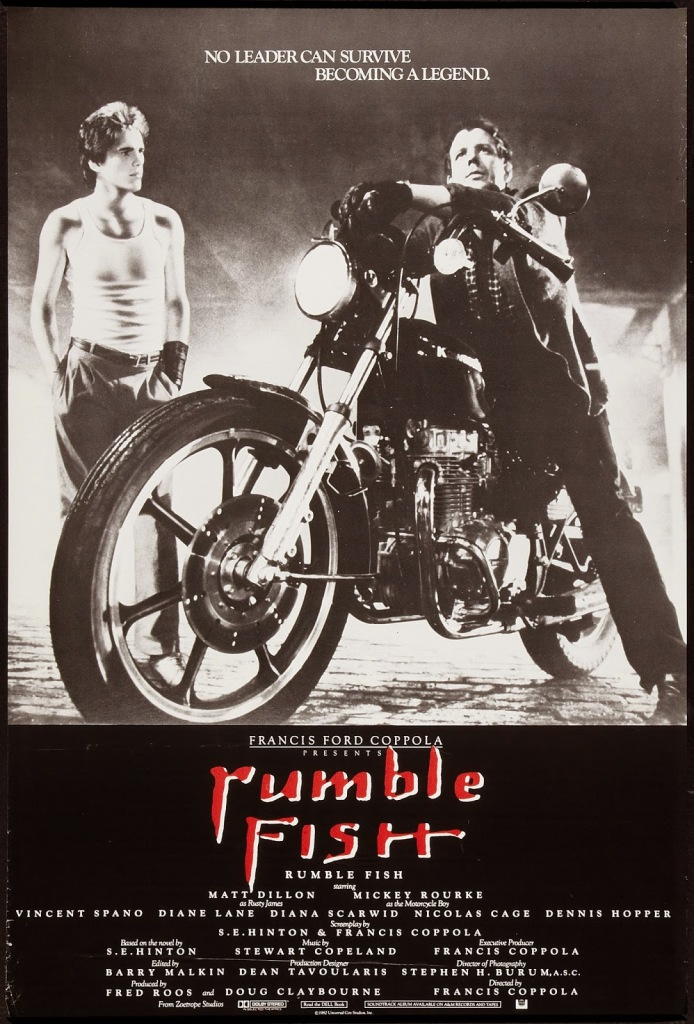 rumble fish Rumble fish -the 1983 drama movie featuring matt dillon and mickey rourke at the award winning 80s movies rewind 8 pages of info, trailer, pictures and more.