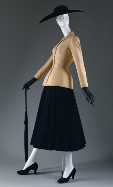 House of Dior, Christian Dior, spring summer 1947, silk, %22Bar Suit%22 - from the met museum